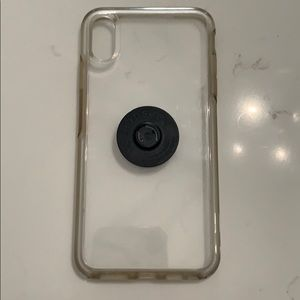 Otterbox clear iPhone XS Max case